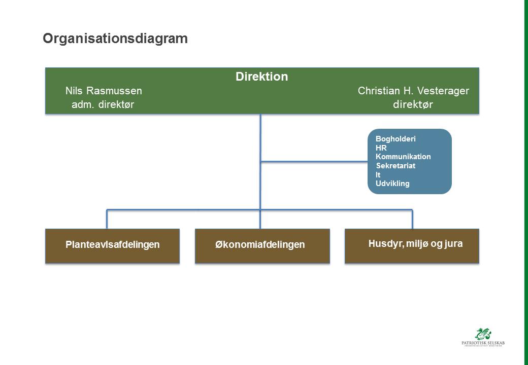 Organisationsdiagram 1. august 2015